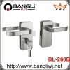High quality Zinc Alloy Glass Door Lock with handle (268B)