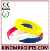 silicone bracelet wristband with mix color