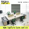 4 people office desk partition