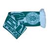 100% acrylic jacquard fan scarf with fringes