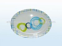 new design melamine oval plate
