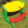 Adjustable folding table for child, kids desk/plastic folding table