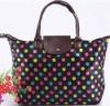 Large capacity polyester folding shopping bag