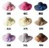PORTABLE FOLDABLE and FASHION WIDE brim Summer Beach Hats for ladies(Mix colors)