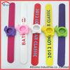round shape new silicone slap style watch