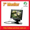 7inch car PC monitor with 2 channel AV inputs