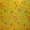 satin fabric printed with polka dot