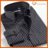 2012 new white and black striped 100% cotton casual shirt