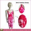 2012 flower women dress