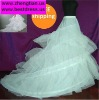 -Line White 2-hoop Bridal Wedding Dress Petticoat Crinoline With Chapel Train