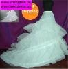 -Line White 2-hoop Bridal Wedding Dress Petticoat Crinoline With Chapel Train