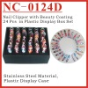 (NC-0124D) 24Pcs Girl Shaped Coating Nail Clippers Set