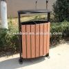 Outdoor Wood Plastic Composite Environmental protection Trash Bin