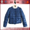 2012 fashion lady shiny down feather jacket