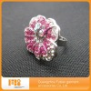 2012 unique pink rhinestone napkin ring for wedding decoration