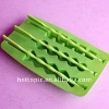 Fruit shape silicone ice lolly maker with stick, ice lolly mould