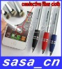 Fabric-tipped Business Stylus Pen 2 in 1 High Sensitive Touch Ballpoint Pen For iPhone 4 4S for iPad 2 Galaxy Tab