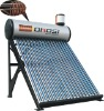 Pre-heated solar water heater with copper coil