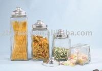 Truely SGS LFGB FDA glass storage jar lid high quality