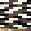 natural black and white marble mosaic floor tile
