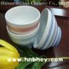 ceramic bowl with stripe