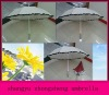 led umbrella with lace different color light