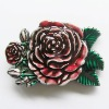 Belt Buckle (Western Rose Flower Belt Buckle)