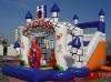 Inflatable moonwalk/inflatable slide