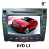 (BYD L3) 8 inch two din Car DVD Player with GPS, bluetooth