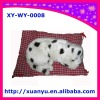dalmatien, snoring with stomatch moving ,puppy toys