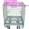 stainless steel with high quality 4 wheels movable storage cage