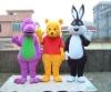barney winnie rabbit mascot costume