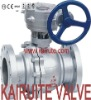 cast stee flanged 2 piece floating ball valve