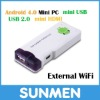 MK802 Allwinner A10 Android 4.0 Mini PC with HDMI, support Video