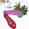 Red PVC Closed Toe Flower Shoes
