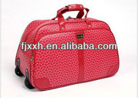 2013 design PU grid travel bags