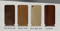 hot selling iphone 4 wooden case with button