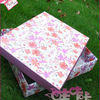 pink floral paper gift box
