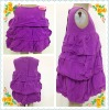 pre girl's layer dress with pink flower