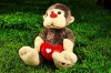 Plush & stuffed valentine animal monkey toy