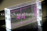 clear PVC plastic box for gift packaging