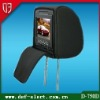 Car cover with zipper headrest dvd player