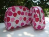 Young Ladies' Favorite Lovely Cherry Nylon Women Cosmetic bag