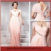 LED219 Custom Made Pink Beaded Cap Sleeve Ruffled 2012 Evening Pregnant Women Dresses