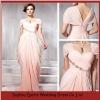 LED219 Custom Made Pink Beaded Cap Sleeve Ruffled 2012 Evening Pregnant Women Dresses