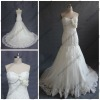 WR-001 Appliqued Sweetheart Court Train Real Wedding Dress Samples