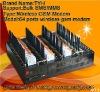 Quad band 64 port USB GSM sms modem with free English software