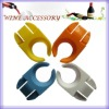 Wine accessory glass plate clips
