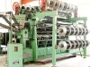 Double needle bar warp knitting machine