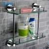 bathroom two tier glass shelf